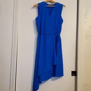 Royal Blue tank crossover v neck dress 12